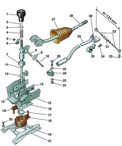 механизм переключения передач audi 80