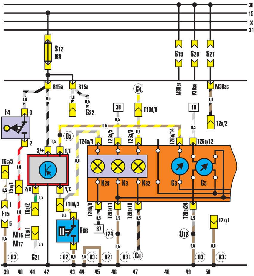 F4 – выключатель фонарей