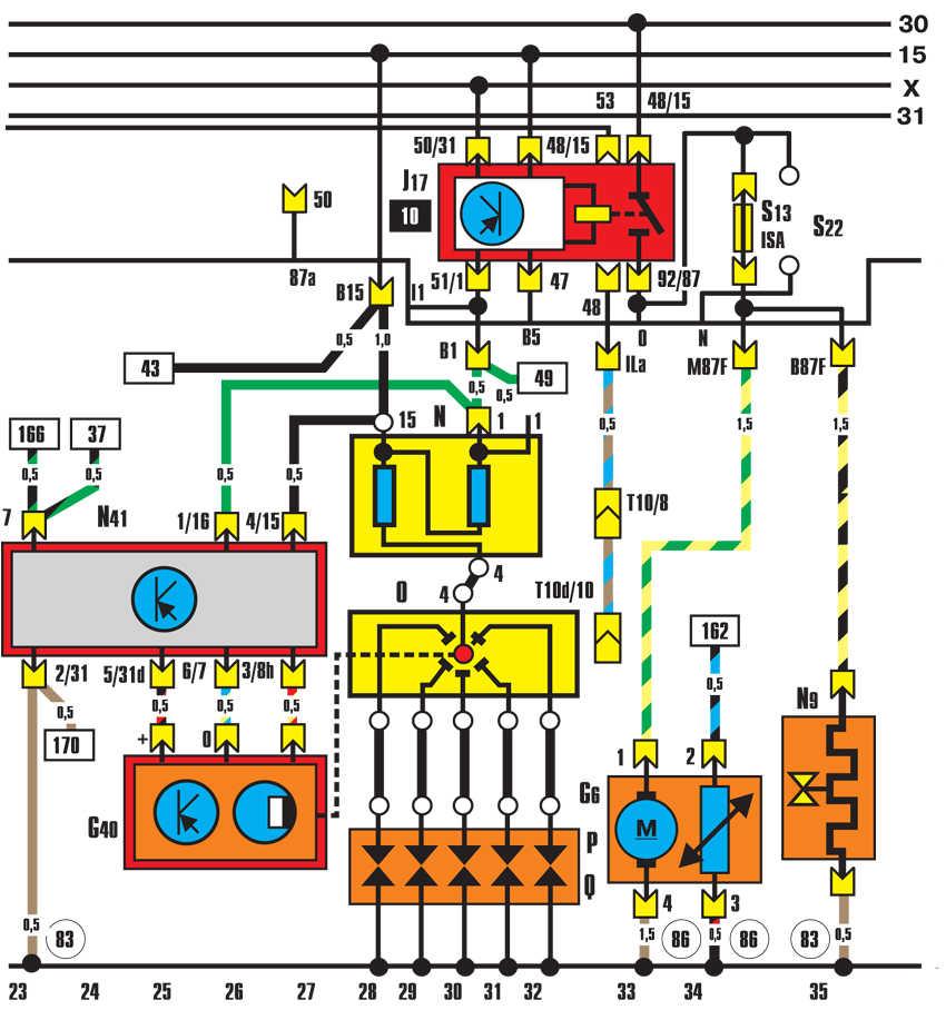 Audi 80 схема зажигания