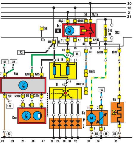 ауди 80 электрическая схема