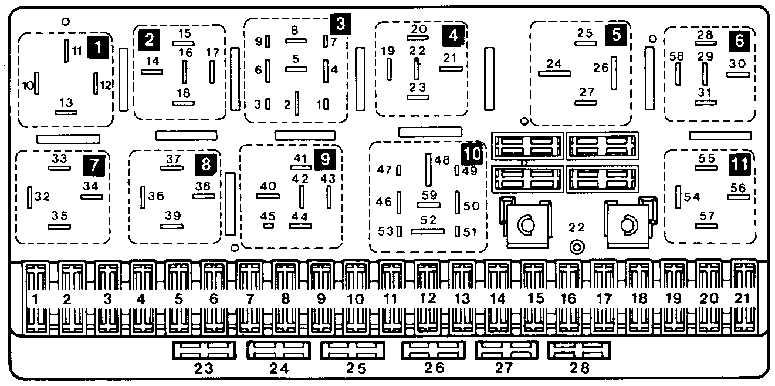 Идентификация блоков реле