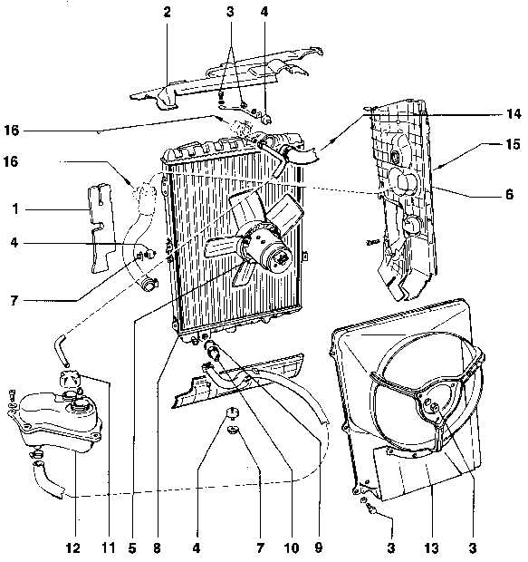 Вентилятор 6. Щиток радиатора