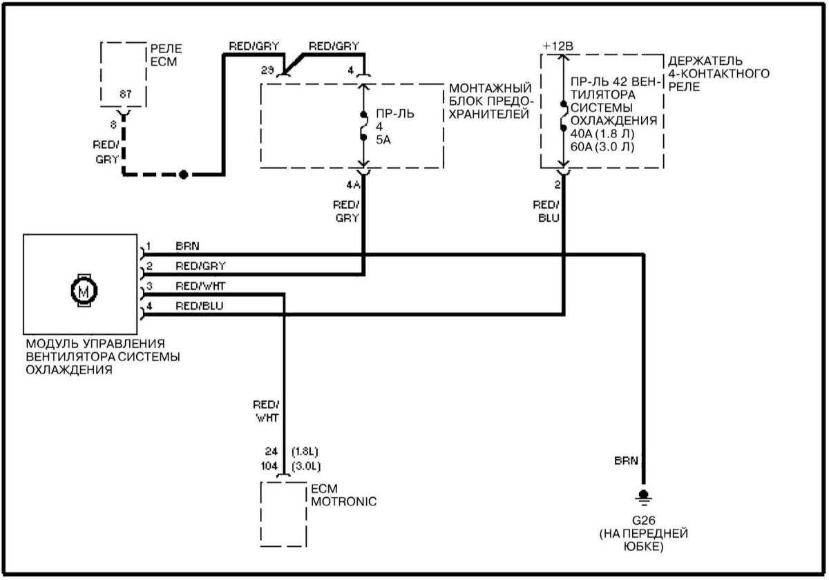 схема включения вентилятора охлаждения на ауди а3