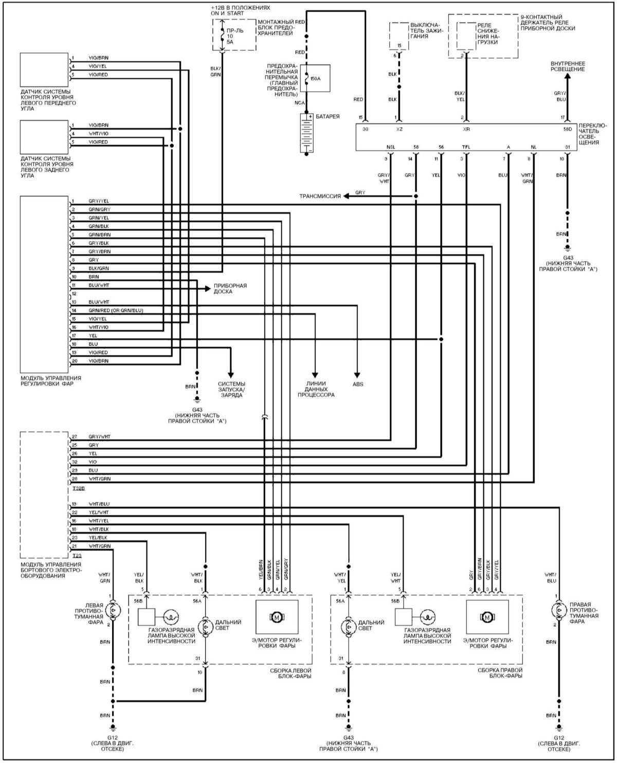 схема переключателей на ауди 80