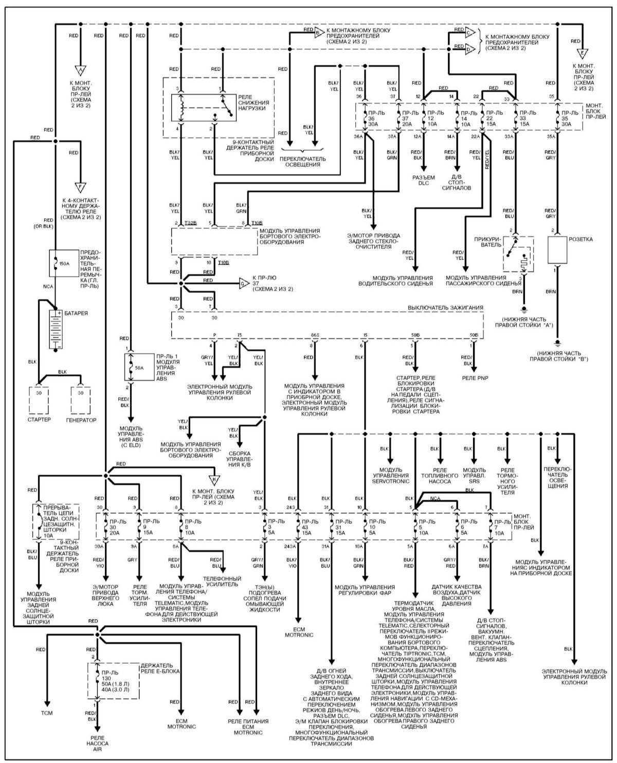 схема питания стеклоочистителя киа спортейдж 1993