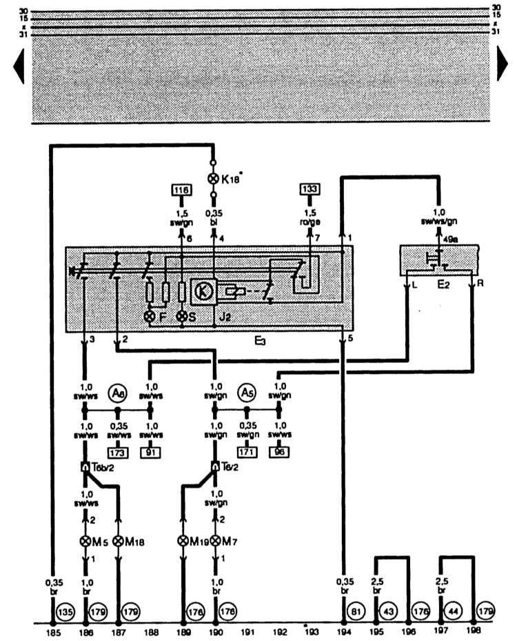E2 – выключатель указателя