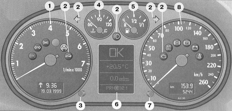 после пуска двигателя не гаснет лампа airbag audi a4 b5