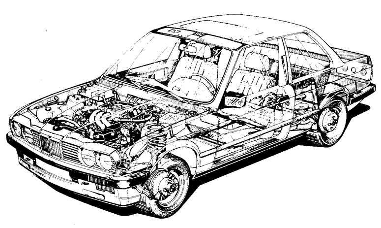 Схема подвески bmw e21