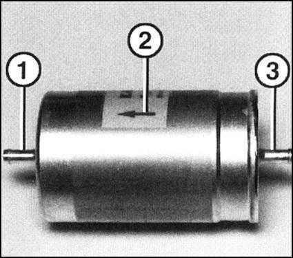 Стрелка на корпусе фильтра