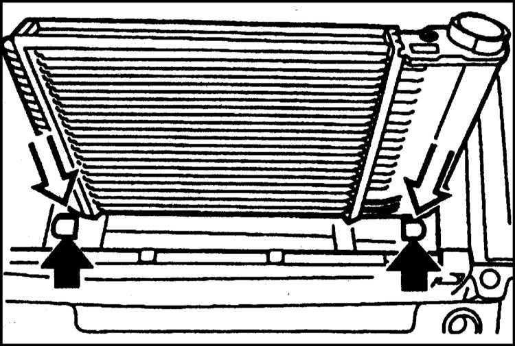 замена радиатора охлаждения на BMW e39