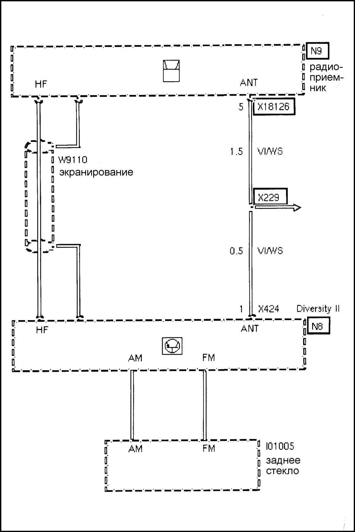 Схемы электрооборудования БМВ 5 Е39.