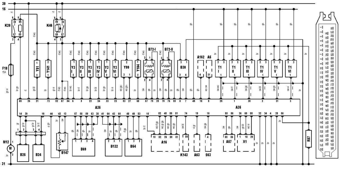 Схема на bmw e39 520i