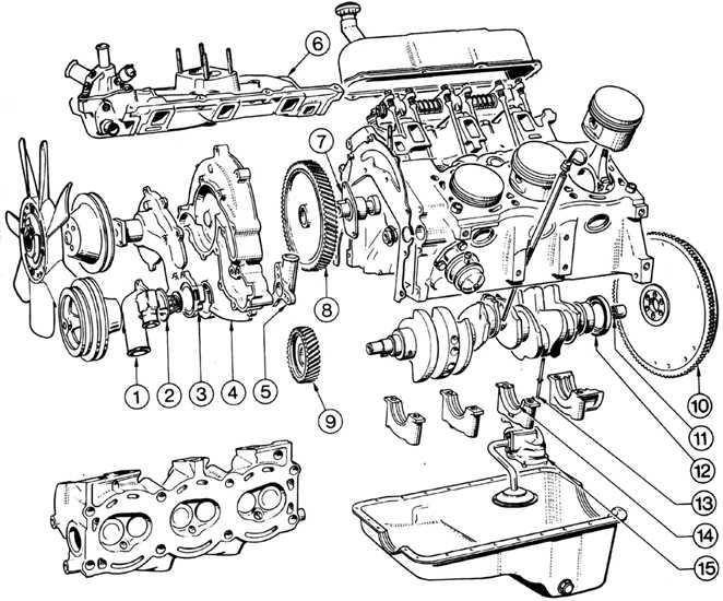 Форд разборка двигателя