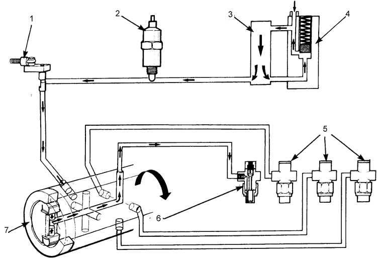 Роторный топливный насос