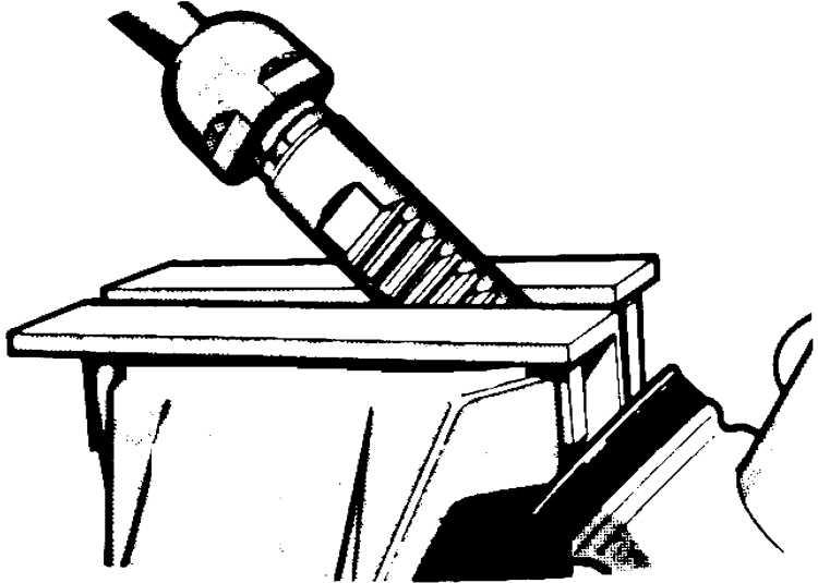 Переместить зубчатую рейку в