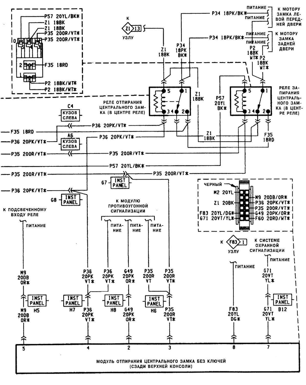 схема реле на шкода фелиция 1999 год