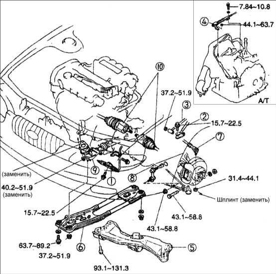1 – рабочий цилиндр сцепления;