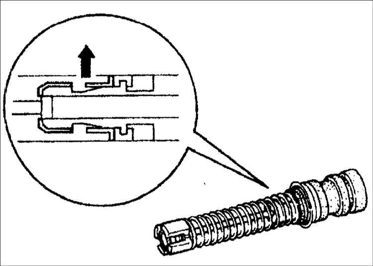 4. Поднимите фиксатор стопора
