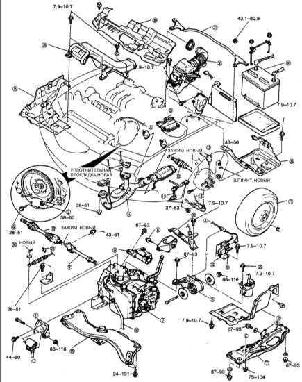2 – коробка передач;