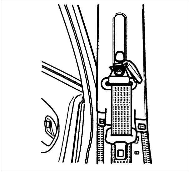 как снять ремень безопасности на киа рио