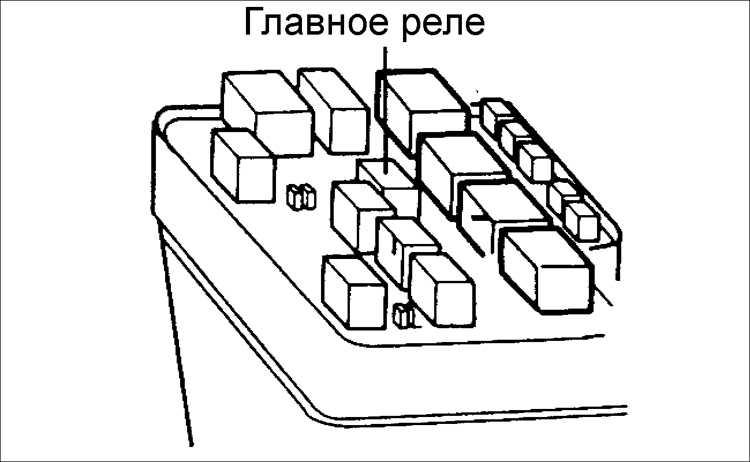 9. Установите реле на блок
