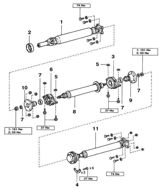 1 — Передняя секция карданного