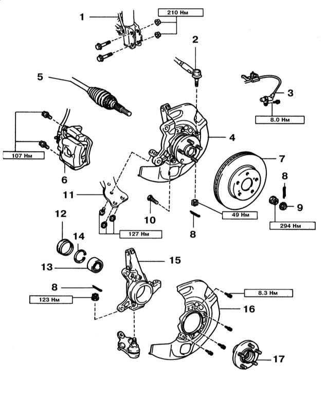 Схема передней ступицы опель
