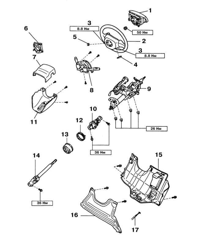 1 — Накладка рулевого колеса