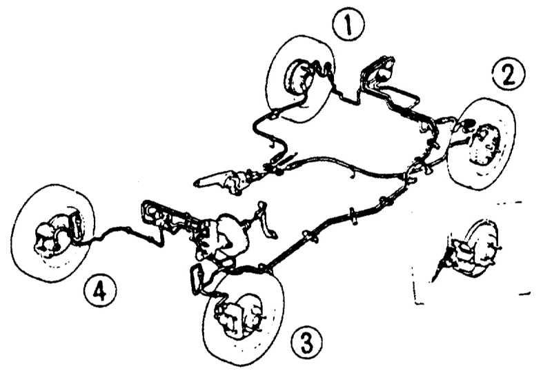audi 80: Схема тормозной