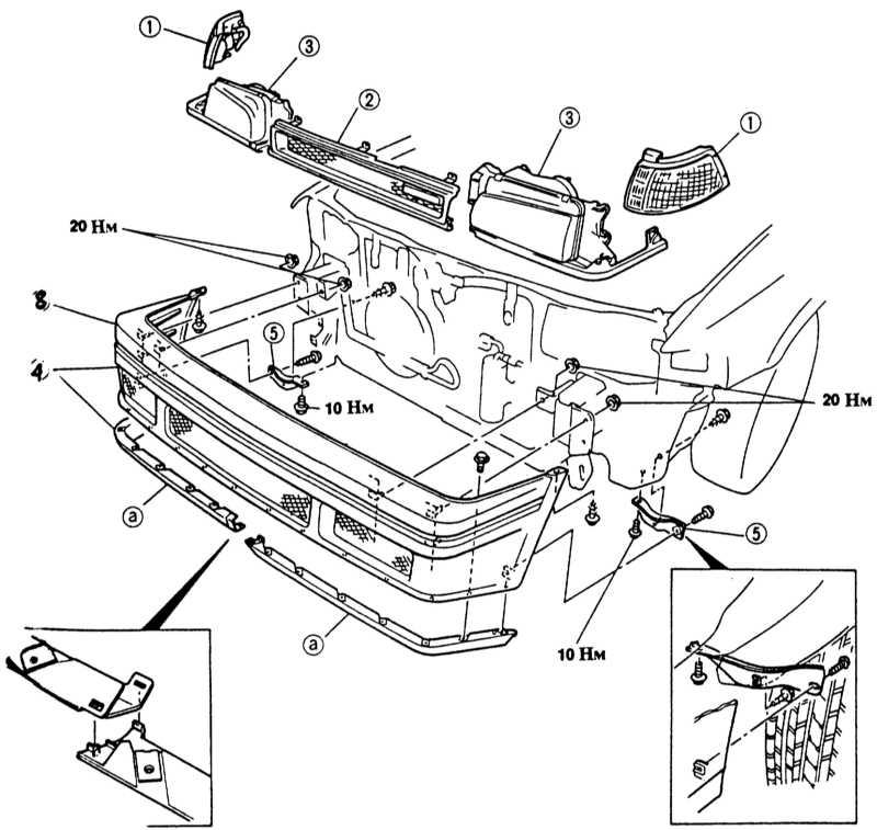 4 — передний бампер