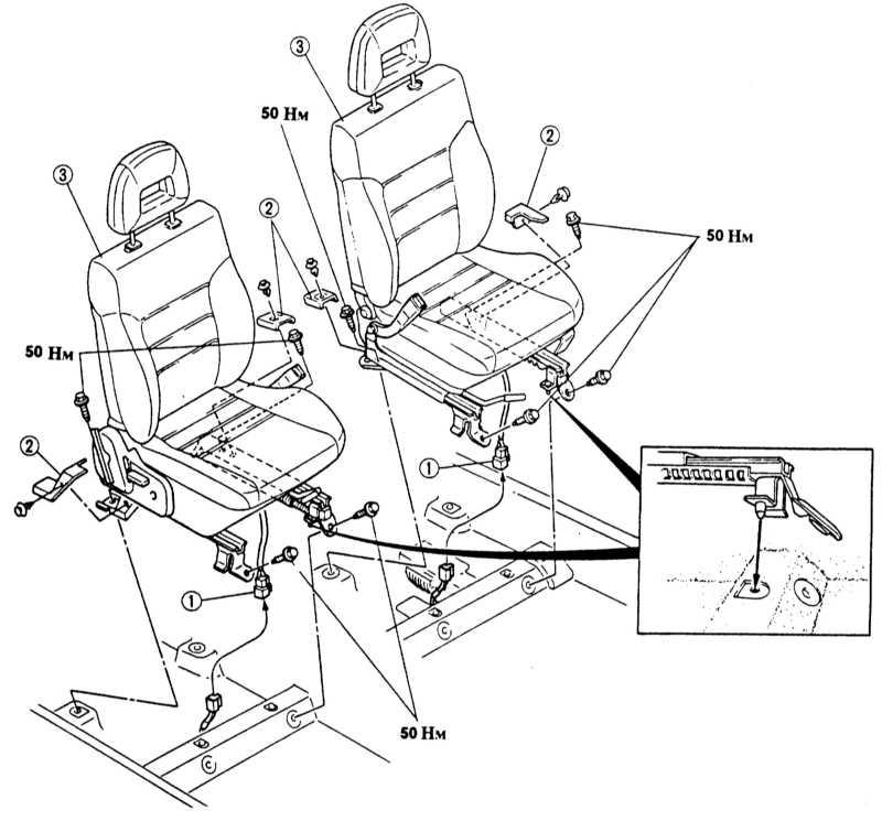 1 — штекер подогрева сиденья