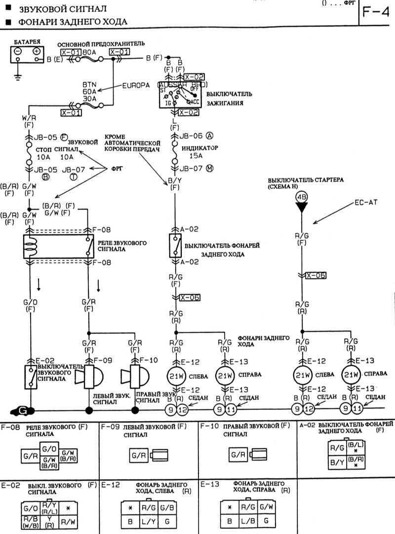 Схема подключения фары мазда 6 183