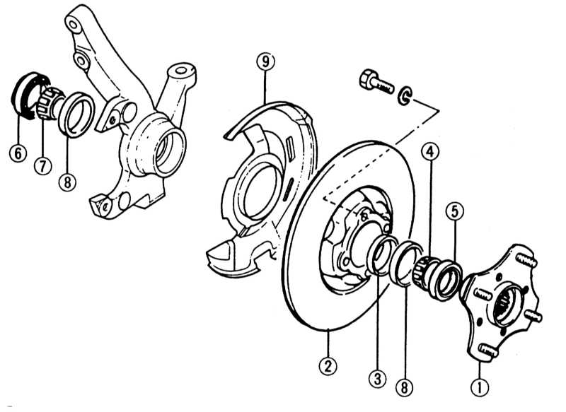 1 — ступица колеса