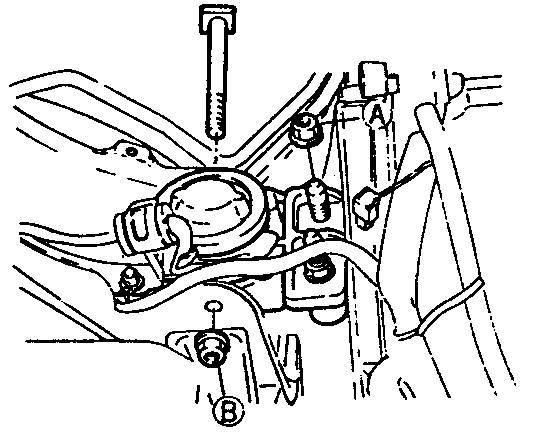 Установите подвеску двигателя