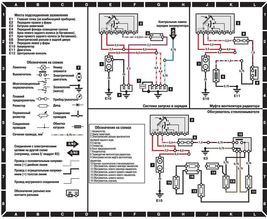 Электрические схемы Mercedes-Benz W124.