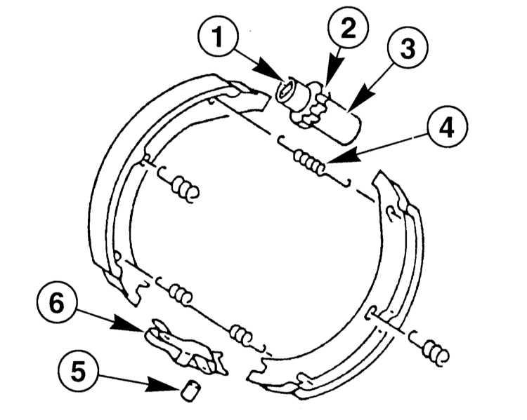 (4) от тормозных колодок и