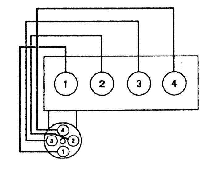 последовательность цилиндров опель 1.8