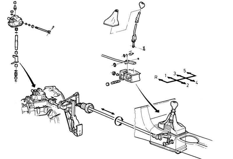 ремкомплект механизма выбора передачи peugeot 405