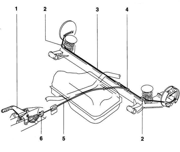 1 — Рычаг стояночного тормоза