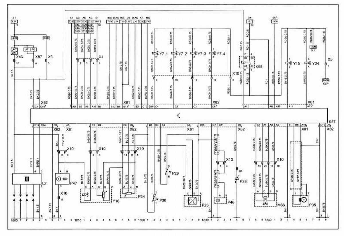 Схемы электрических соединений Opel Corsa.