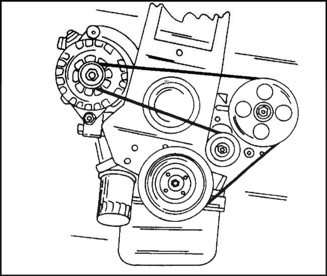 Схема прокладки клинового