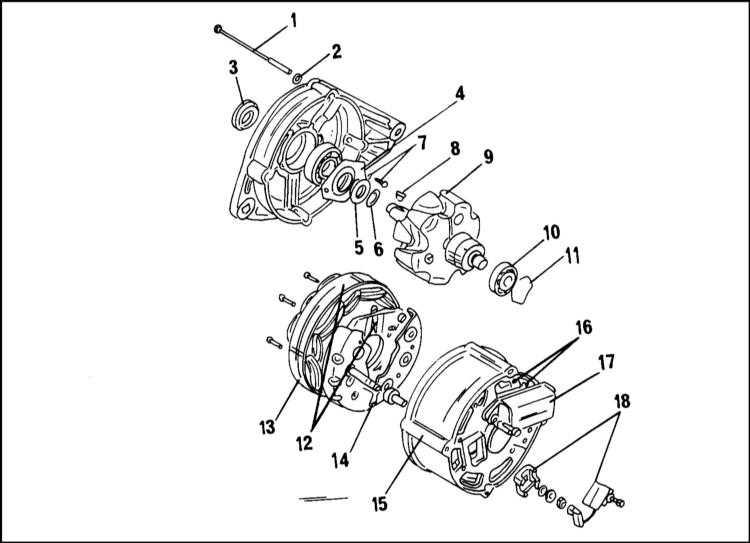 Схема сборки генератора Bosch