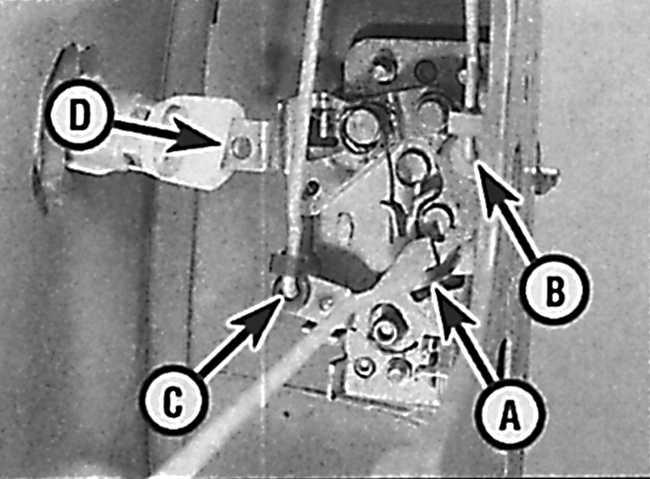 Снятие и установка замка двери