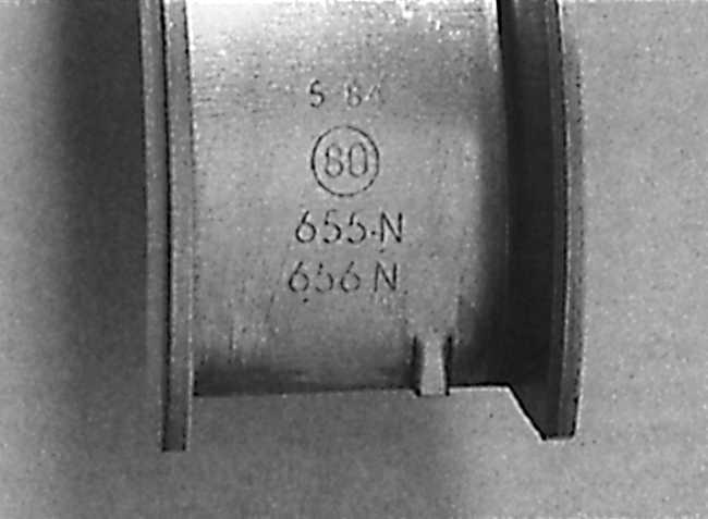 маркировка стандартных вкладышах на опель кадет