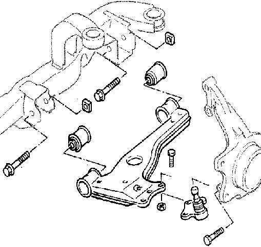 Схема передней подвески опель