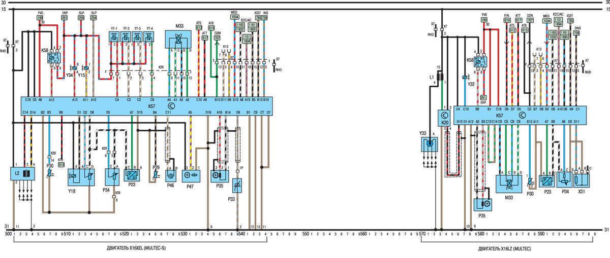 Электрическая схема автомобиля