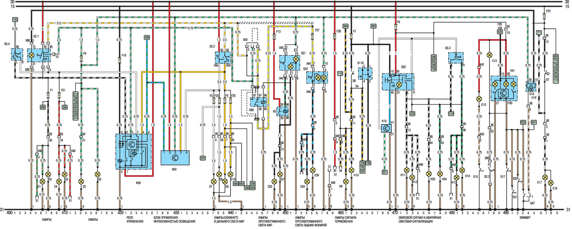 Схема субару 1991 года