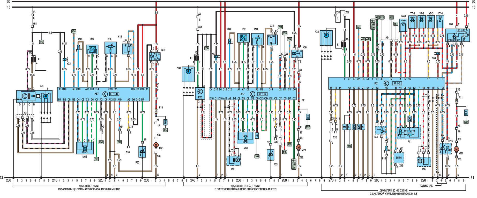 Система охлаждения опель вектра б 2.0 схема