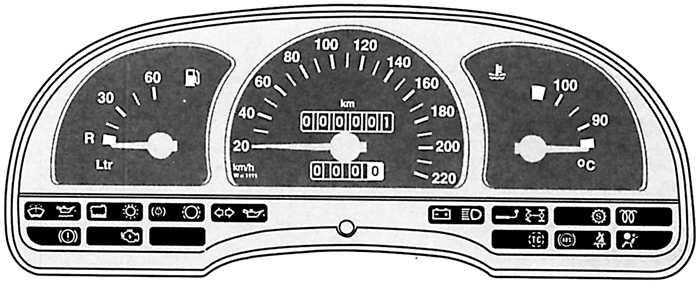 Контрольные лампы панели приборов opel vectra a Рекомендации  контрольные лампы панели приборов opel vectra a