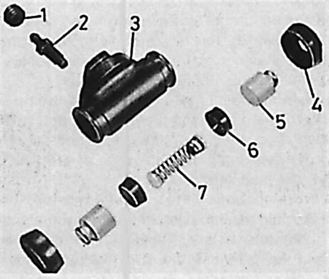 3 – корпус рабочего тормозного